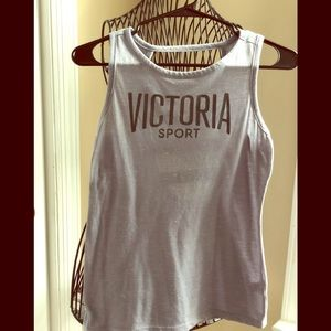 Victoria's Secret Sport Tank with open back.